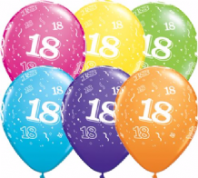 18th Birthday - 11 Inch Balloons 25pcs